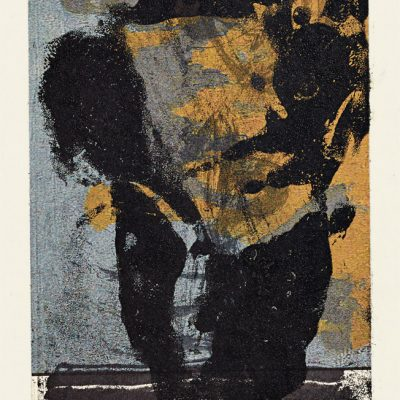 Monotype, 2005. Technique mixte sur papier, 13x9 cm, unique.