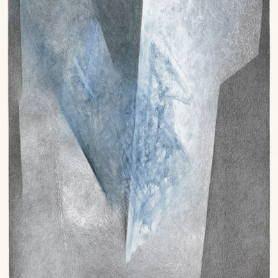 Litho N° 40, 1991. Lithographie rehaussée, 56x40 cm, unique. Collection privée.